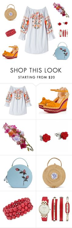 """""""summer vibe"""" by skamex on Polyvore featuring Free People, Christian Louboutin, Accessorize, Ross-Simons and Anne Klein"""