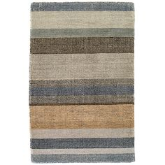 An updated version of our best-selling  Stonover Stripe and  Rock Hill Stripe rugs, this ultrasoft and plush hand-knotted wool area rug features stripes in shades of a desert sunset.