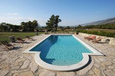 Stunning stone country house in Istria, Croatia. Very short drive to the crystal clear sea. Gorgeous surrounding mountains and scenery!