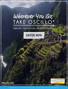 Daily-2/28. Win Your Dream Vacation with $5,000 in Travel Vouchers! Wherever You Go, Take Oscillo® Sweepstakes