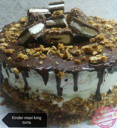 Kinder Maxi King torta Recept képpel - Mindmegette.hu - Receptek King Torta, Maxi King, Tiramisu, Pudding, Ethnic Recipes, Food, Caramel, Kids, Meal