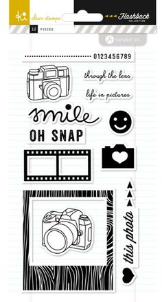 Click Click Flashback Clear Stamps by KI Memories - Two Peas in a Bucket