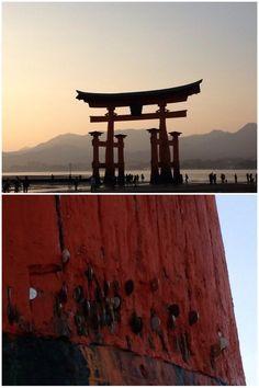 広島の厳島神社の大鳥居に小銭を挟む人がいるせいで、亀裂が大きくなり老朽化に拍車 | @Atsuhiko Takahashi (アットトリップ)