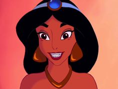 Jasmine | Disney Princesses With Braces Are Actually Really Cute