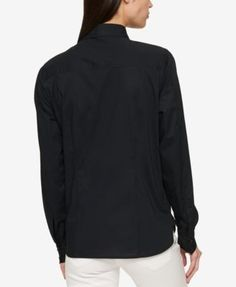 Tommy Hilfiger Cotton Roll-Tab Shirt, Created for Macy's - White XXL