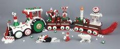 Today I would like to show you something other than SW creations. I prepared this winter MOC (Gingerbread Man Christmas Vehicle) for the competition in our local community - Zbudujmy. Enjoy the photo! Lego Christmas Train, Lego Christmas Ornaments, Noel Christmas, Xmas, Giant Candles, Gingerbread Train, Lego Winter Village, Lego House, The Brethren