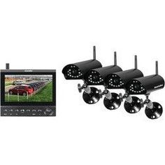 SECURITYMAN DigiLCDDVR4 Complete 2.4GHz Digital Wireless Camera LCD/DVR System with 4 Wireless Cameras