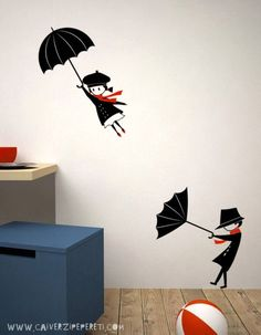 It used to be that wall decals or wall stickers, were sold primarily as an alternative to permanently Kids Decor, Diy Home Decor, Room Decor, Decor Ideas, Mural Art, Wall Murals, Wall Hangings, Wall Art Designs, Wall Design