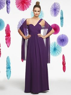 Valstefani.com style VS9195: Poly chiffon A-line. Sweetheart with strap, open back, and inverted basque waist. Floor length. Matching shawl included.