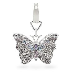 Fossil Glitz Butterfly Charm ($34) ❤ liked on Polyvore featuring jewelry, pendants, butterfly charm, sparkle jewelry, fossil charms, butterfly jewelry and monarch butterfly jewelry