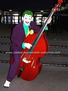 My Joker costume. Like the previous Riddler costume added to the site, this Joker costume was made for a band member(my husband). When starting any new cos Diy Joker Costume, Riddler Costume, Diy Halloween Costumes, Pirate Costumes, Costume Ideas, Cool Diy, Easy Diy, Homemade Costumes, Vampire Costumes