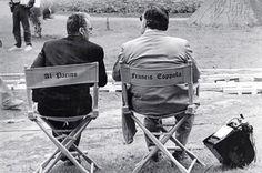 Al Pacino and Coppola on the set Godfather III