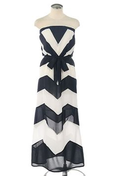 BCBG Chevron Print Maxi Dress
