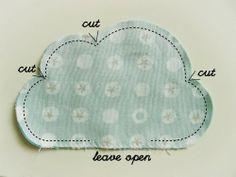 Tutorial Coj�n nube/ DIY Cloud cushion