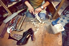 Family tradition of shoemaking. fot H. Karapuda, shoes Aga Prus
