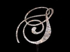 "Handmade Custom Swarovski Crystal 6"" Monogram Rhinestone Cake Topper Any Letter A B C D E F G H I J K L M N O P Q R S T U V W X Y Z"