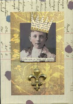 violetsell by Citrus Faire, via Flickr paperwhimsy pretty face
