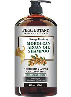 Moroccan Argan Oil Shampoo with Restorative Formula 16 fl oz Gentle Sulfate Free for All Hair Types Cleanses Revives Hydrates Detangles Hair Revitalizes the Scalp SplitEnds >>> Find out more about the great product at the image link. Anti Frizz Shampoo, Good Shampoo And Conditioner, Thickening Shampoo, Hair Shampoo, Argan Shampoo, Pure Argan Oil, Argan Oil Hair, Hair Oil, Shampoo For Thinning Hair