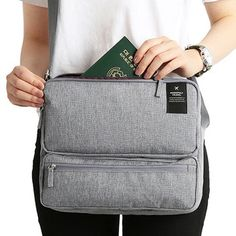Women Men Unisex Outdoor Large Capacity Functional Laptop Shoulder Bag Crossbody Bag