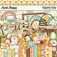 "Photo from album ""Hippity hop_Happy Ester"" on Yandex. Happy Easter Bunny, Clip Art Pictures, Free Digital Scrapbooking, Scrapbooking Ideas, Happy Spring, Scrapbook Embellishments, Egg Hunt, Scrapbook Cards, Crafts"