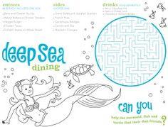 printable kids menu - Szukaj w Google | That's clever! | Pinterest ...