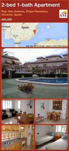 2-bed 1-bath Apartment in Res. San Antonio, Playa Flamenca, Alicante, Spain ►€65,000 #PropertyForSaleInSpain