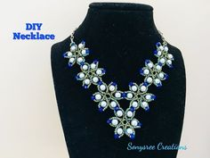 DIY Beaded Necklace Party wear - YouTube