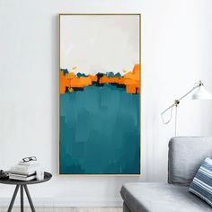 Rolled Out Colors - Canvas Wall Art Painting - 55x110cm no frame / Picture B