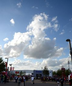 Great Britain cloud formation hangs above Olympic Park..