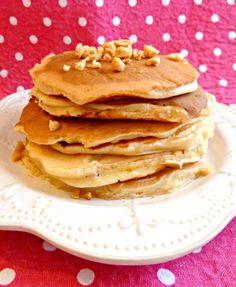 De délicieux pancakes au lait ribot, indétrônables de mes brunchs :) #pancakes #cacahuètes