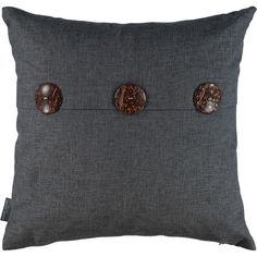 Grey Slate Button Cushion 50x50cm Grey Slate, Tk Maxx, Belly Button Rings, Cushions, Brooch, Buttons, Living Room, Stuff To Buy, Jewelry