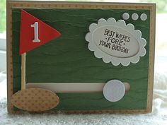 4th Take is the Winner! - Hole-in-1 by girlgeek101 - Cards and Paper Crafts at Splitcoaststampers