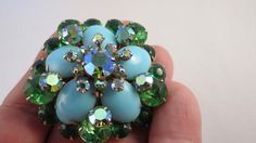 Vintage Persian Blue Turquoise Color & Green by DecatiqueStudios, $45.00