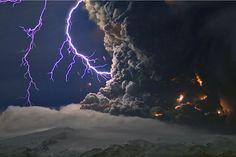 Lightning Strikes Iceland.