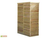 L'armoire de rangement de chez Gardival s'installe sur votre terrasse ou directement dans votre jardin. Elle mesure 60 cm de profondeur, 125 cm de largeur et 183 cm de hauteur. L'armoire est bois traité autoclave pour une excellente résistance ... (suite)