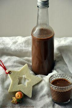 Liqueur au Chocolat Ketchup, Cocktail Drinks, Cocktails, Sangria, Etiquette, Liquor, Food And Drink, Sweets, Canning