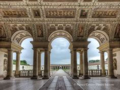 069-ARCHITECTURE, Giulio Romano; Loggia of Palazzo Tê, Mantua, 1525-1535. # Giulio Romano Palazzo del Te, is characterized by extreme sophistication, complexity, and novelty, based on ancient Roman architecture but with less emphasis in harmony