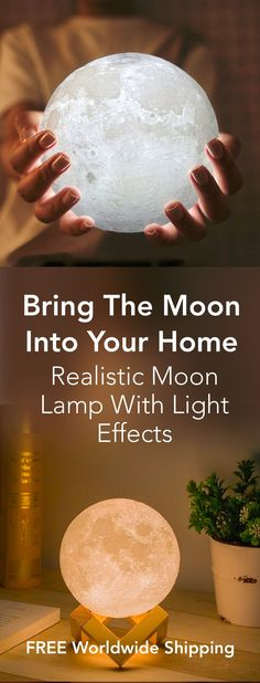 Bring The Moon Into Your Home - Realistic Magical Moon Lamps - Tap The Link Now Find that Perfect Gift Home And Deco, Do It Yourself Home, My Room, Diy And Crafts, Decor Crafts, Home Improvement, Projects To Try, Sweet Home, Creations