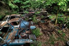 chatillon car graveyard belgium The Haunting Car Graveyard of Chatillon, Belgium