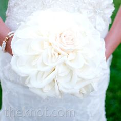 White Rose Composite Bouquet - so unique, looks like one huge gigantic rose!