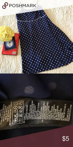 Mini Polk a Dotted Blue Dress Excellent Condition• Blue Dress• White polkadots• Mini• Materials are Listed Above• Washing Instructions Listed Above• Size Small Forever 21 Dresses Mini