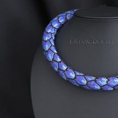 Bead Crochet Rope Necklace This necklace is made of smallest and quality Japanese Toho15 and Miyuki Delica beads. Necklace length 16,5 inch inch. (42 cm.) without clasp. Thickness - 0.6 (1,5 cm). Avaible and ready for shipment. All my necklaces and bracelets are made in