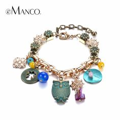 Women Retro Shell Bracelet Female Europe and America Owl Personality Brazaletes Pulseras Mujer Vintage National Style Jewelry Cute Jewelry, Jewelry Accessories, Fashion Accessories, Fashion Jewelry, Women Jewelry, Chain Jewelry, Jewelry Shop, Bohemian Accessories, Owl Jewelry