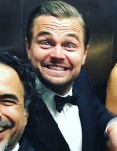 Leonardo DiCaprio fuckin happy Oscar 2016