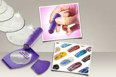8pc Nail Art Stamping Kit