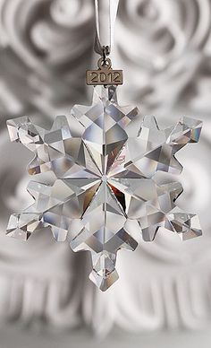 Swarovski Crystal Annual Edition Ornament, 2012 -- Have one for every year we have been married :) One day they will decorate my whole tree...well one of my trees :)