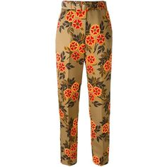 MSGM floral print trousers ($196) ❤ liked on Polyvore featuring pants, bottoms, pantaloni, multi color pants, msgm, floral printed pants, floral print pants and patterned trousers