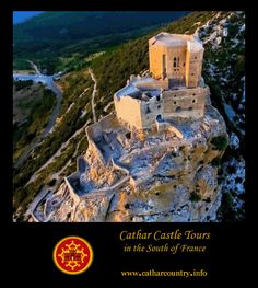 Château de Quéribus, Cucugnan, Aude, Languedoc, France... www.catharcountry.info ... Quéribus is sometimes regarded as the last Cathar stronghold. In a sense it was. After the fall of the Château of Montségur in 1244 surviving Cathars gathered together in the Corbières at this mountain-top stronghold on the border of Aragon.