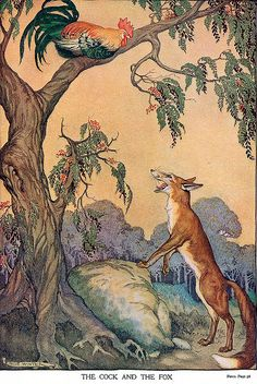 Rooster and the Fox--Aesops Fables--Milo Winter