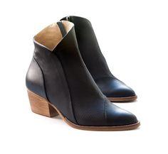 Chic, short boots with subtle details. #etsyfinds